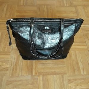 Coach Patented Leather Shoulder Bag